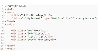 CSS - Positioning 4 divs top, left/right, bottom