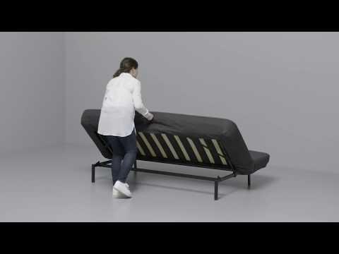 IKEA - NYHAMN: Anleitung vom 3-er Sofa zum Bett