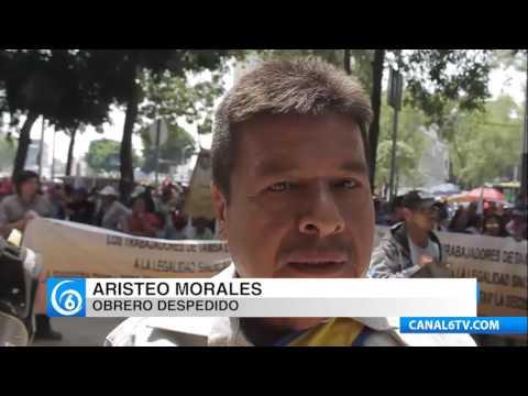 Obreros del Sindicato de TAMSA piden justicia