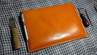 Making of the Surface Pro 3/4 leather sleeve case.