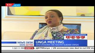 CS Amina Mohamed leads Kenyan team as they discuss the South Sudan crisis