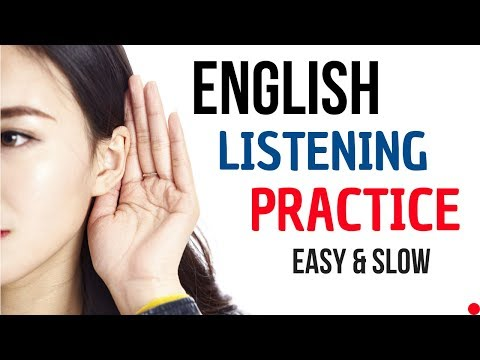 English Listening Practice || English Conversation || Slow and Easy ...