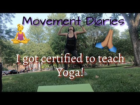 I vlogged my last day of the yoga teacher training course I took this past summer!