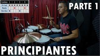 🥁 BATERÍA PARA PRINCIPIANTES - 20 Ejercicios  Básicos - CLASES DE BATERÍA - PARTE 1