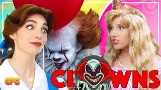 Are Disney Princesses AFRAID OF CLOWNS? Ask The Disneyland Princesses