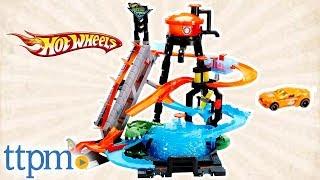 Игровой набор трек Хот Вилс  Водонапорная башня Hot Wheels City Ultimate Gator Car Wash от компании Сундук - видео 1