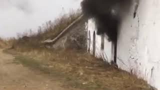 Объект Владивостокской крепости на Днепровской окутал дым от пожара
