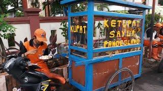 KETUPAT SAYUR PANDEGLANG LANGGANAN PASUKAN ORANGE - INDONESIAN STREET FOOD