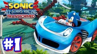 Sonic & All Stars Racing Transformed Wii U - World Tour - Part 1
