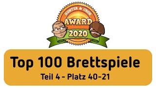 Top 100 Brettspiele - Hunter & Cron Award 2020 (Teil 4)