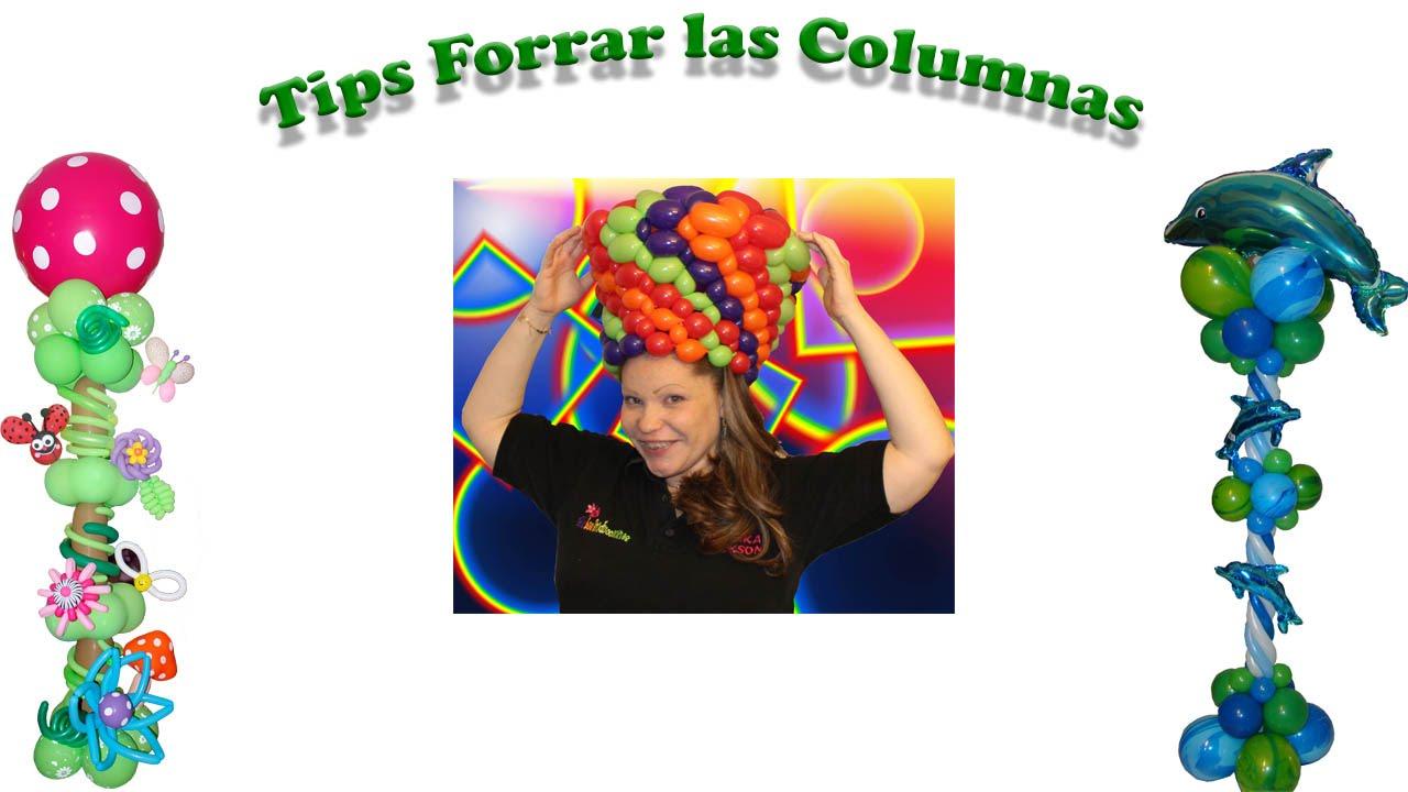 Tips Curso de Globos. como forrar una columna