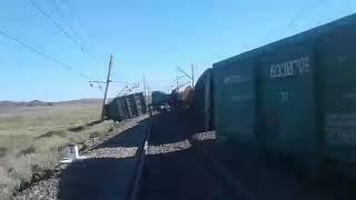 Казахстан снова авария поезда 2018