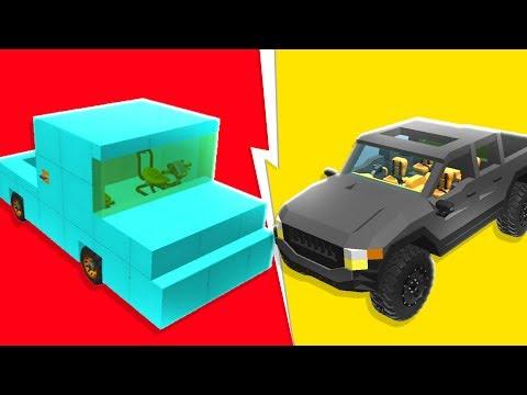 Noob VS Pro Pick Up Trucks Challenge - Scrap Mechanic   JeromeACE