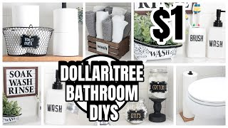 DOLLAR TREE BATHROOM DIYS DECOR AND ORGANIZATION