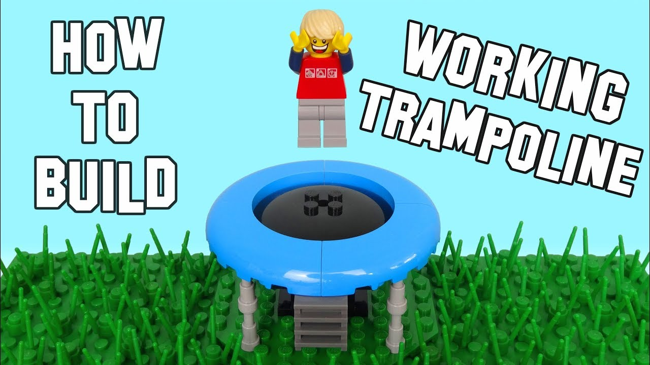 How To Build A Working Lego Trampoline - Actually Bounces!