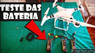 TESTE DA AUTONOMIA DAS BATERIA DO DRONE DJI PHANTOM 1