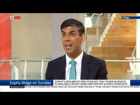 Housing Minister Rishi Sunak discusses Boris Johnson's Brexit policy on Sophy Ridge on Sunday