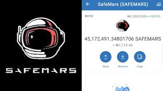 How to buy 10 million safemars token for $1 from trust wallet | step by step (English version)
