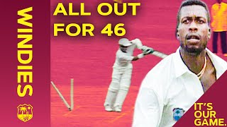 All Out For 46! | Curtly Ambrose Rips Through England! | From The Archive Windies vs England 1994