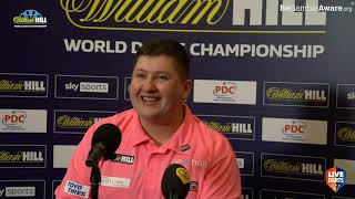 """Keegan Brown: """"Being a lab assistant, I've not played much darts this year, but it's worth it"""""""