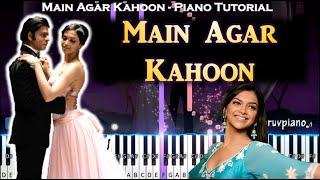 Main Agar Kahoon (Om Shanti Om) || Piano   - YouTube