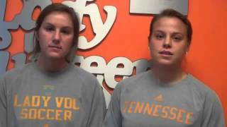 UT Soccer's Kylie Bono Amy Harrison Discuss Spring Practice 2 28 121449
