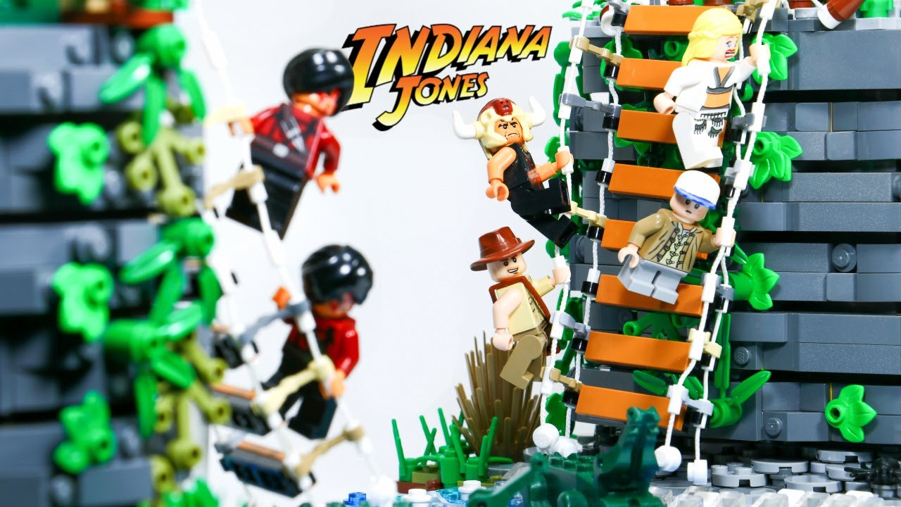 LEGO INDIANA JONES and the Temple of Doom⎜Suspension Bridge Fight!!