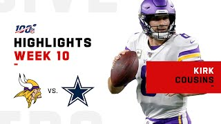 Kirk Cousins Highlights vs. Cowboys | NFL 2019