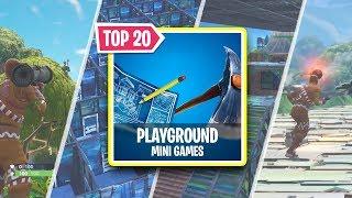 20 MINI GAMES YOU CAN TRY IN FORTNITE (Fortnite Custom Games)