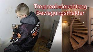 Treppenbeleuchtung mit Bewegungsmelder / Vorbereitung Hausinstallation