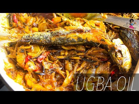 How to Make Ugba and Onions Oil | Yam Sauce | Nigerian Food Recipes