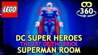 Lego DC Super Heros 360º 4K Virtual Reality - SUPERMAN - #VR #360Video