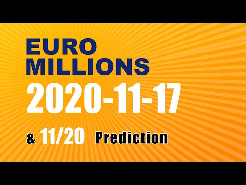 Winning numbers prediction for 2020-11-20|Euro Millions