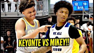 Mikey Williams vs Keyonte George GO AT IT!! Top Shooting Guards BATTLE at Adidas 3SSB!!