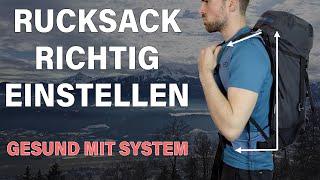 RUCKSACK RICHTIG EINSTELLEN - Nie wieder Probleme! | Bergsteigen Grundlagenkurs #22