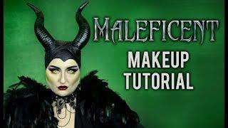 MALEFICENT | HALLOWEEN COSTUME MAKEUP TUTORIAL DISNEY VILLAIN COLLAB W/ ATLEEEEY