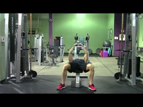 Lying Cable Fly - HASfit Chest Exercise Demonstration - Chest Fly - Cable Flys - Pectoral Fly
