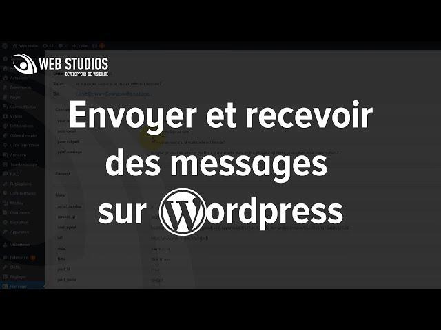 Envoyer et recevoir des messages sur WordPress