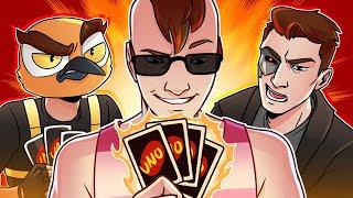 I Was On FIRE/The Uno Podcast! - Uno w/ Vanoss, Terroriser, and fourzer0seven