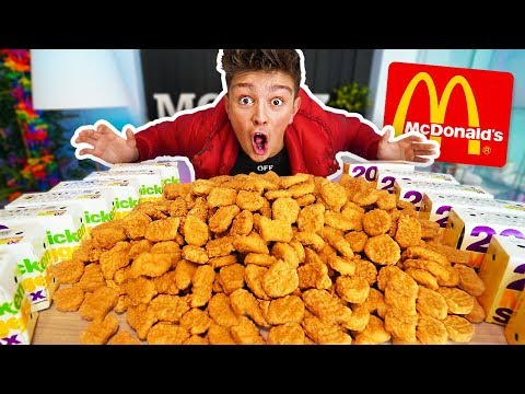 1000 CHICKEN NUGGETS CHALLENGE!! *200,000 CALORIES* (Breaking McDonalds World Records)