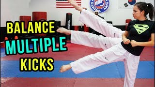 How to Do Multiple Kicks Without Putting Your Foot Down | Samery Moras Taekwondo