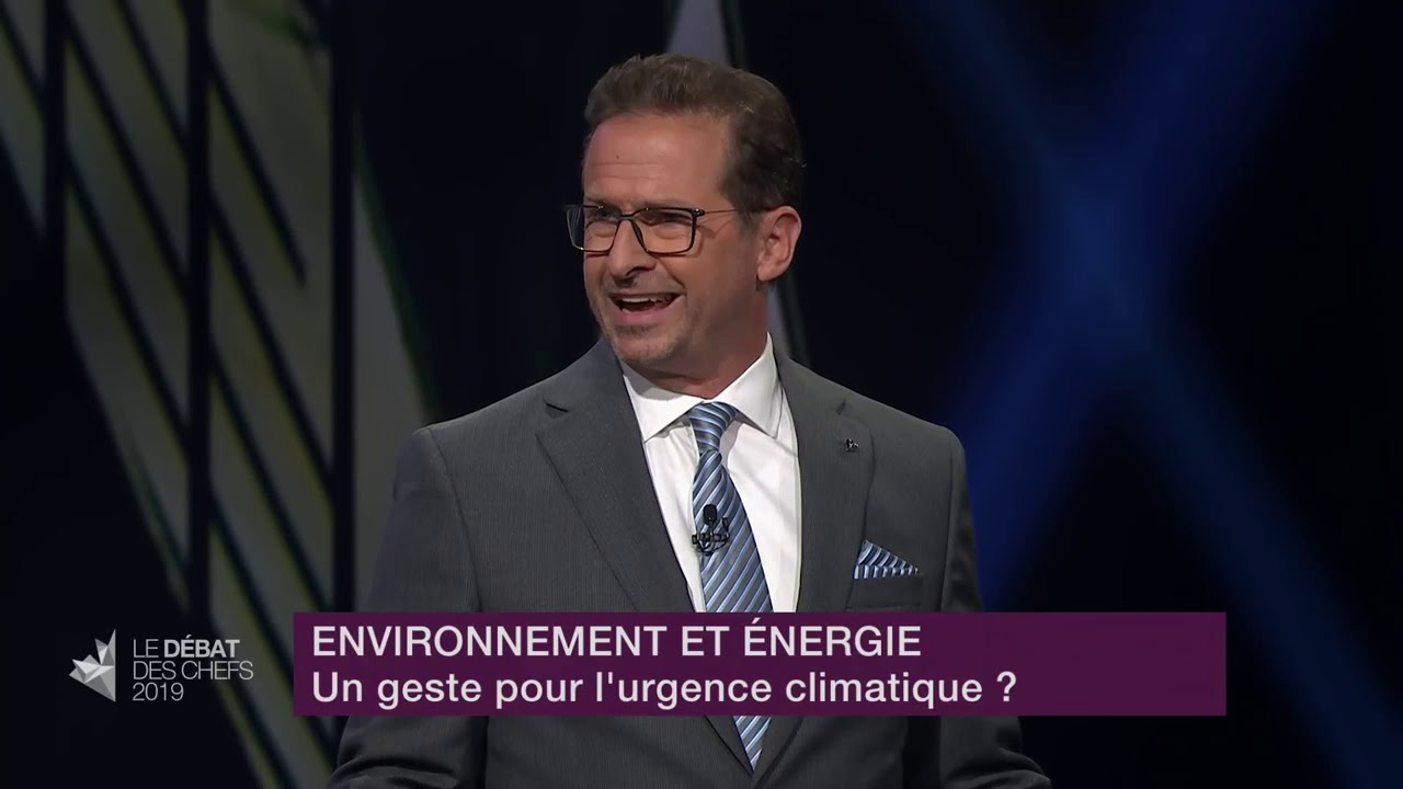 Yves-François Blanchet answers a question about fighting climate change