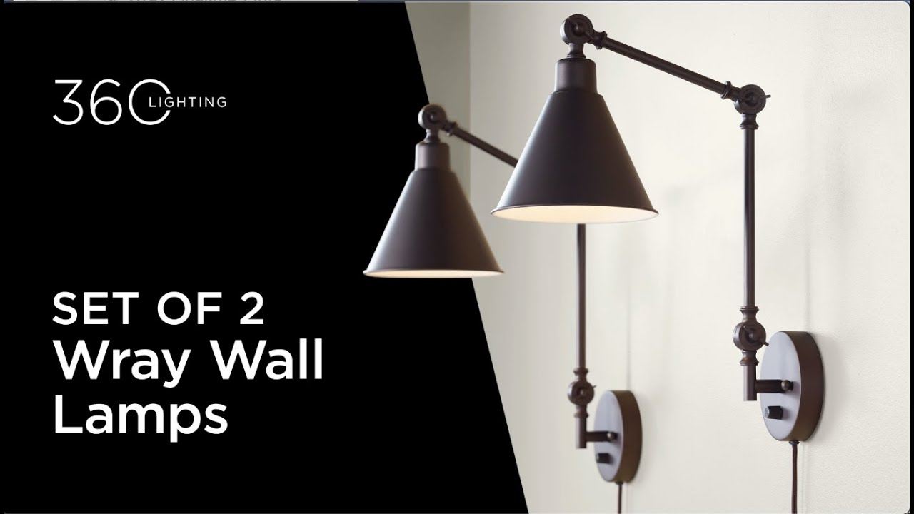 Set of 2 Wray Wall Lamps