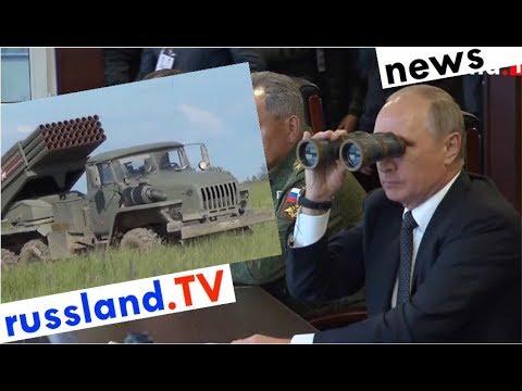 Putin besucht Großmanöver [Video]