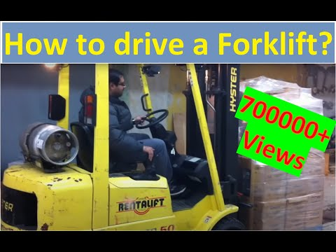 How to operate / drive a forklift (Forklift Training Lesson)(con anotaciones español)[HD]