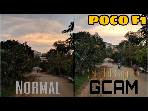 Gcam 6 1 for Poco F1 with Night Sight Is Outstanding//Comparison