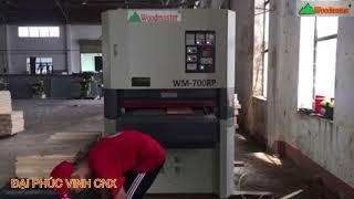 MÁY CHÀ NHÁM THÙNG 7 tấc 700mm Woodmaster Trung Quốc máy chất như Shengshin Đài Loan