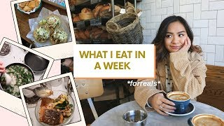 what i eat in a week as a college student (realistic)