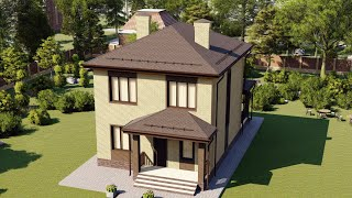 Проект дома 113-А, Площадь дома: 113 м2, Размер дома:  8,3x10 м