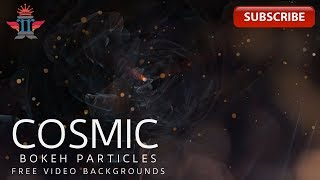 Cosmic energy rotations|Particle Waves - Background #Royalty Free Footages